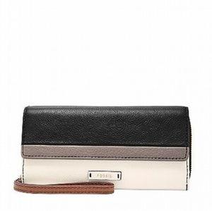 🌼 Fossil Julia Leather Clutch RFID Wallet